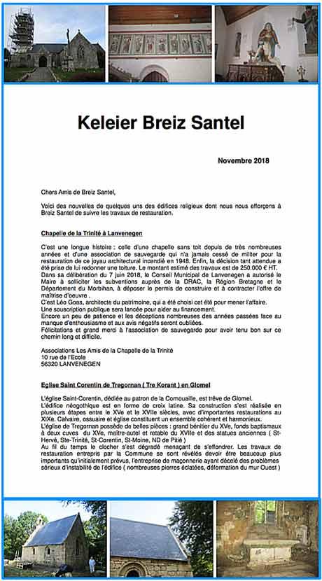 nouvelles de Breiz Santel